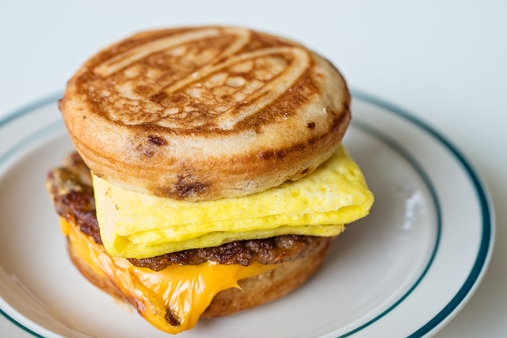 sausage egg cheese mcgriddle