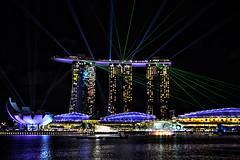 Marina Bay Sands (chooyutshing) Tags: show water graphics lasers sound spotlights ights beaming waterfrontpromenade marinabaysands eventplaza womnderfull