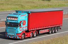 Scania R series Y8 JHY - Yates & Sons (gylesnikki) Tags: blue red truck scotland scottish artic yatessons