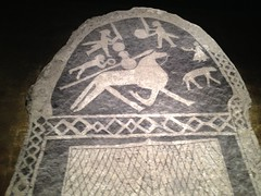 Detail from picture stone from Hunninge 2 (radiowood) Tags: art museum sweden medieval gotland vikings visby ironage