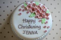 Girl christening cake (The Bake Shop Uk) Tags: christeningcake thebakeshopuk cakeinoxford bakeryoxford