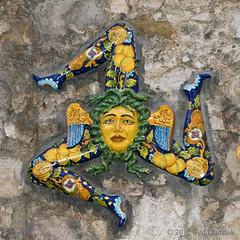 Taormina, Sicily - Medusa on a wall in the main street (Ted Dudziak) Tags: italy theater sicily taormina medusa mtetna greekromantheater