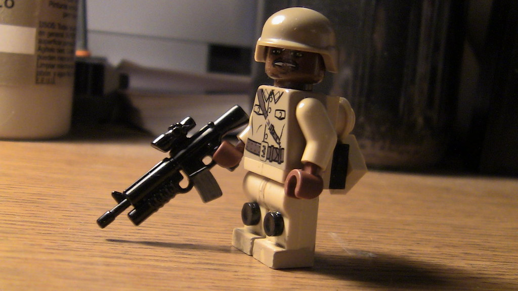 Desert Marine With M16A4 ACOG M203 (GingerProductions141) Tags: usmc ...