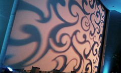 Blue Lighting - Pattern Projection - Houston City Club