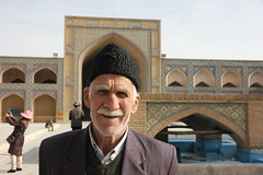 "Portrait at Jameh Mosque, Isfahan (""Yome"") Tags: old man iran mosque esfahan isfahan"