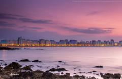 Skyline de Gijn (Glendor Diaz) Tags: sunset asturias playa gijon ocaso largaexposicion glendor