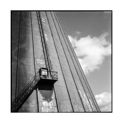tower • caen, normandy • 2013 (lem's) Tags: tower industry rolleiflex tour ruin ruine normandie normandy industrie caen planar urbex autaut refroidissement