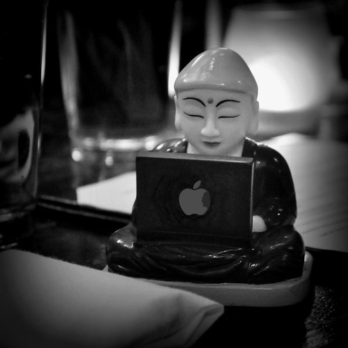 Apple Buddha (B&W)