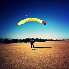 Skydiving Jan 2008', blue skies landing (divemasterking2000) Tags: sky skydiving coast al jump alabama dive january diving center skydive 2008 dropzone emerald dz elberta ecsc