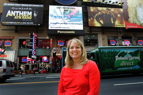 Marsha Wallace in Times Square wide