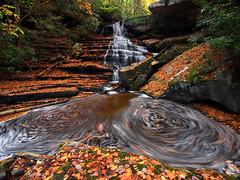 The Swirls Of Laurel Creek (Bill Fultz) Tags: autumn fall waterfall swirls gauleyrivernationalrecreationarea fultzfotos lauralcreek