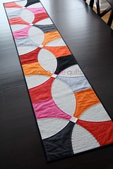 Modern Patchwork Winter 2014_Table Runner (Mama Love Quilts (Nicole)) Tags: winter modern table curves patchwork runner 2014