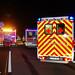 Verkehrsunfall mit Gefahrgut A3 Raunheim 02.12.13