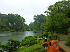 Charizard in Hiroshima, Hiroshima 11 (Shukkei-en Garden) (Kasadera) Tags: toys hiroshima figure pokemon pokmon  charizard   glurak  shukkeiengarden pokemonkids   dracaufeu