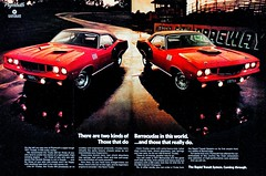1971 Plymouth Cuda`s (Rickster G) Tags: hardtop 1969 car ads 1974 1971 flyer 60s muscle plymouth literature 1966 transit 1967 shaker 70s belvedere 1970 1968 hemi mopar sales 1972 brochure cuda rapid formulas coupe barracuda 440 1973 fury rallye roadrunner compact 1964 1965 dealer 340 426 petty fastback gtx 383 4406 hemicuda sixbarrel scatpack