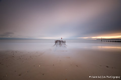 (Claire Hutton) Tags: uk longexposure light sunset sea sun water metal clouds moving seaside movement tide wideangle front le dorset groyne bournemouth slowmotion boscombe ndfilter 10stop nd110 bw110 nikond90 tamron1024mm
