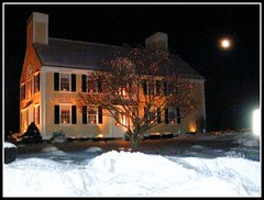 The L. Hussier Insurance Auto Home At Night In W