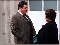 Co-stars (* RICHARD M (Over 5 million views)) Tags: street candid candids liverpool merseyside imeldastaunton michaelball tubbyenid filming onlocationfilminginliverpool filmmaking acting actor actress victoriawood musicaldrama bbctv bbctelevision singingstar recordingstar recordingartist westendstar broadwaystar r costars costarring smiles celebrity celebrities exchangestreetwest capitalofculture europeancapitalofculture singer shobiz showbiz tubby