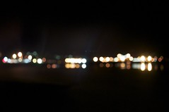 Bokeh effect of Burnie's Wharf