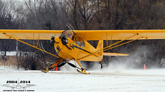 Ski Planes! (Winglet Photography) Tags: plane airplane aircraft flight flying aviation travel transport transportation spotting planespotting georgewidener georgerwidener stockphoto wingletphotography canon 7d dslr oshkosh wisconsin winter cold eaa ski flyin 2014 ice icy
