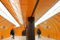Twins-mirror- tube (werner boehm *) Tags: munich mnchen architcture architektur marienplatz ubahnmnchen metromunich wernerboehm