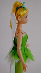 Mattel Tinker Bell Doll (2004) - First Look - Deboxed - Standing - Midrange Left Side View (drj1828) Tags: 2004 standing us doll wand tinkerbell pixie dust purchase mattel posable 11inch deboxed
