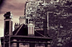 The Attic (Jean-Luc Léopoldi) Tags: roof chimney bw strange noiretblanc attic toit dormer étrange cheminées mansarde chienassis