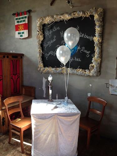 Tafeldecoratie 3ballonnen Wapen van Poortugaal