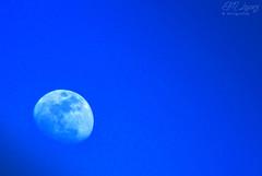 Catalina... ayer. (E.M.López) Tags: moon andalucía luna cielo invierno marzo jaén 2014 raso cuartocreciente alcalálareal anticiclón crecienteo