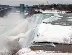 American Falls: Niagara Falls, New York (NY) (Floyd Muad'Dib) Tags: new york bridge winter snow ny newyork ice river island niagarafalls rainbow goat niagara falls american empirestate newyorkstate rainbowbridge americanfalls goatisland niagarariver