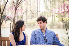 Table with a view (Vincent-F-Tsai) Tags: portrait lake engagement spring couple bokeh outdoor microfourthirds sigma60mmf28dn