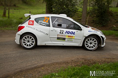 LCHL7206.jpg (Maxime Malet) Tags: france 22 lyon rally rhne avril rallye 2014 championnat cdf charbonnires sportautomobile frenchchampionship a7s lyoncharbonnires oliviervitrani peugeot207s2 jeanfrancoissucci