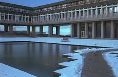 Academic Quadrangle Snow 1 (jvde) Tags: snow film nikon sfu burnaby coolscan f601 nikonf601 3570mmf3345nikkor