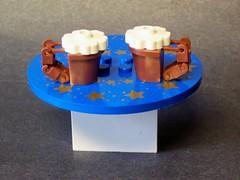 Cheers! (monsterbrick) Tags: beer table mugs lego drink cups root rootbeer moc sandlug