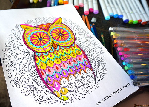 Owl Coloring Page By Thaneeya McArdle