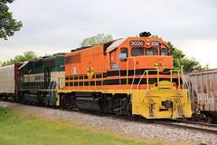 A visiting Arizona and California unit sits with the M&NA unit in Joplin, MO (kschmidt626) Tags: illinois fort smith terminal missouri short locomotive arkansas local joplin