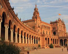 Plaza de Espana (donnasimonviii) Tags: spain arches seville espana plazadeespana andalusiariverguadalquivireuropeanunion