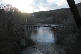 Taff Vale Railway bridge, Cilfynydd branch, Pont Sion Norton junction, Pontypridd, 28.01.15