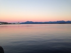 Beautiful sunset in Molde