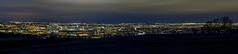 Tyneside at Night (ca2cal) Tags: city light england sky urban panorama tree silhouette night skyscape newcastle landscape cityscape head farm hill gateshead hillhead tyneandwear sunniside traffictrail canonef24105mmf4lisusm canon5dmkiii hillheadfarm