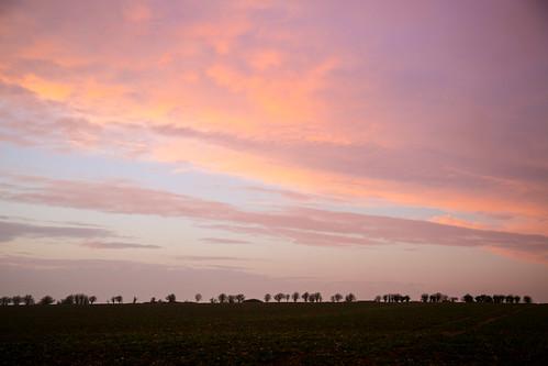 365-47 - sunset over Uffington Hill