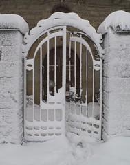La puerta (Patataasada) Tags: door winter espaa snow cold spain puerta huesca nieve nevada invierno fro febrero jaca pirineo aragn pirineoaragons