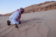 WadiRum-72 (Arnoffoto) Tags: travel people writing sand desert wadirum middleeast arabic jordan bedouin
