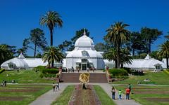 Conservatory of Flowers 1 (estebanpaniagua) Tags: park bridge blue sky goldengate