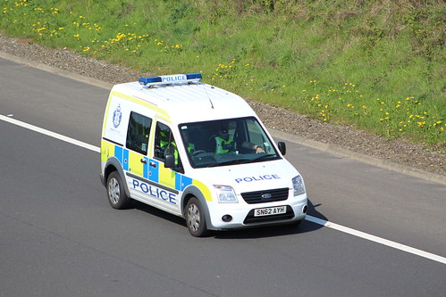 M9 SN62 AYH FORD TRANSIT CONNECT POLICE SCOTLAND
