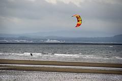 Kitesurfer (albireo 2006) Tags: scotland uk unitedkingdom greatbritain troon troonbeach kitesurfer kitesurfing beach