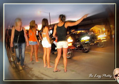 Aug 2011 - A whirlwind of activity on Lazelle in Sturgis (lazy_photog) Tags: street girls people night photography traffic time rally lazy babes motorcycle wyoming activity sturgis elliott photog worland lazelle