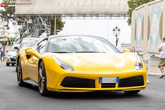 Ferrari 488 GTB (effeNovanta - YOUTUBE) Tags: cars car yellow canon eos video ferrari montecarlo monaco supercar supercars youtube topmarques giallomodena topmarquesmontecarlo canon1100d monacotopmarques 488gtb ferrari488gtb