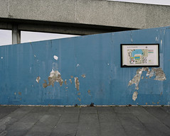 * (jubalharshaw) Tags: urban colour london texture film lens photography high paint fuji estate pentax takumar kodak decay greenwich social demolition scan 55mm walkway 400 resolution council housing medium format 6x7 southeast smc portra f4 67 frontier renewal modernist brutalist ratio rebuilding regeneration thamesmead aspect southmere froniter fotomaru