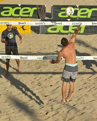 Spike! (ScottS101) Tags: shirtless male men beach muscles sport pier volleyball athletes fit avp huntingtonbeach allrightsreserved 2016scottsansenbach